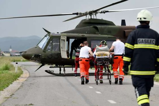 Helikopter Slovenske vojske minuli konec tedna 11-krat poletel na pomoč, letos skupno že 467-krat
