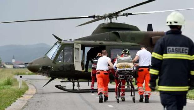 Helikopter Slovenske vojske minuli konec tedna 11-krat poletel na pomoč, letos skupno že 467-krat (foto: Profimedia)