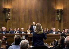 Žrtev Bretta Kavanaugha v senatu opisala spolni napad leta 1982