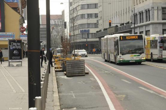 V Ljubljani bo zaradi del več dni spremenjen prometni režim na Slovenski cesti