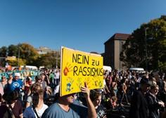 Po številnih evropskih mestih je na tisoče ljudi  protestiralo proti nacizmu in delitvi