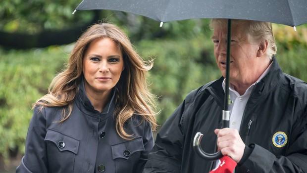 Trumpova obiskala območja, ki jih je prizadel orkan Michael (foto: Profimedia)