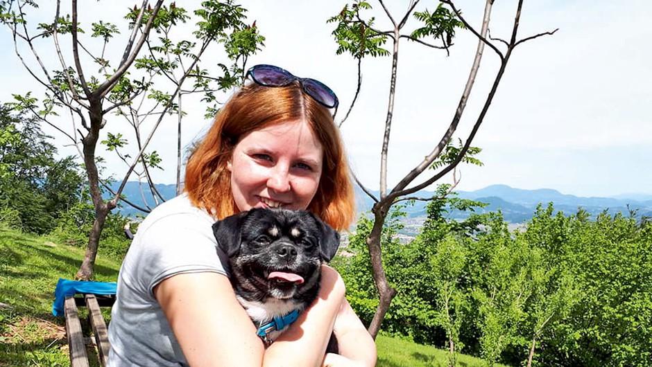 Prisrčna zgodba o Vanessi Arnšek in psu Bossu (foto: osebni arhiv)