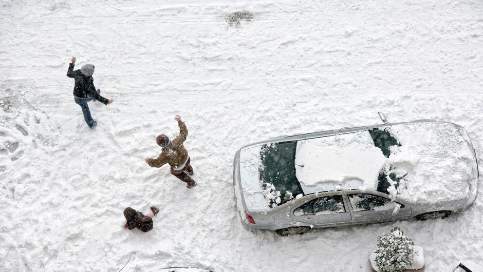 Največ snega so namerili v hribovitem svetu, na Vojskem 24 cm snega! (foto: profimedia)