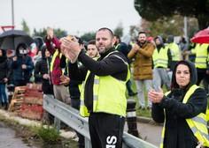 Protesti rumenih brezrokavnikov so se iz Francije razširili še v Belgijo