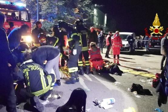 V Italiji so s pomočjo očividcev identificirali mladoletnika, odgovornega za paniko in 6 mrtvih v diskoteki