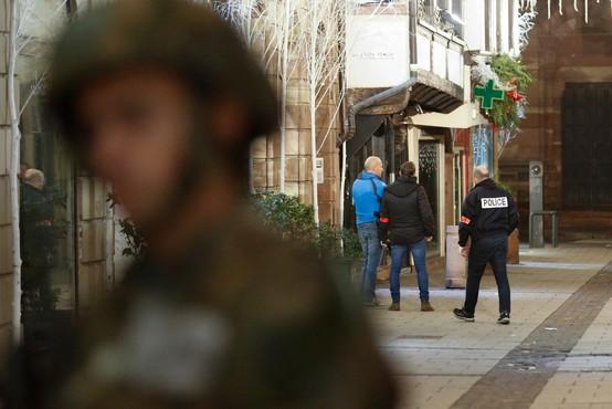 V streljanju v Strasbourgu po novih podatkih trije mrtvi, 13 ranjenih