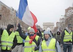 Na protestih v Parizu tokrat nekaj tisoč ljudi
