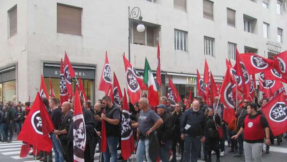 Gorica: Italijanski neofašisti spet na cesto, antifašisti za protiutež pripravljajo svoj shod (foto: STA/Ivan Žerjal)