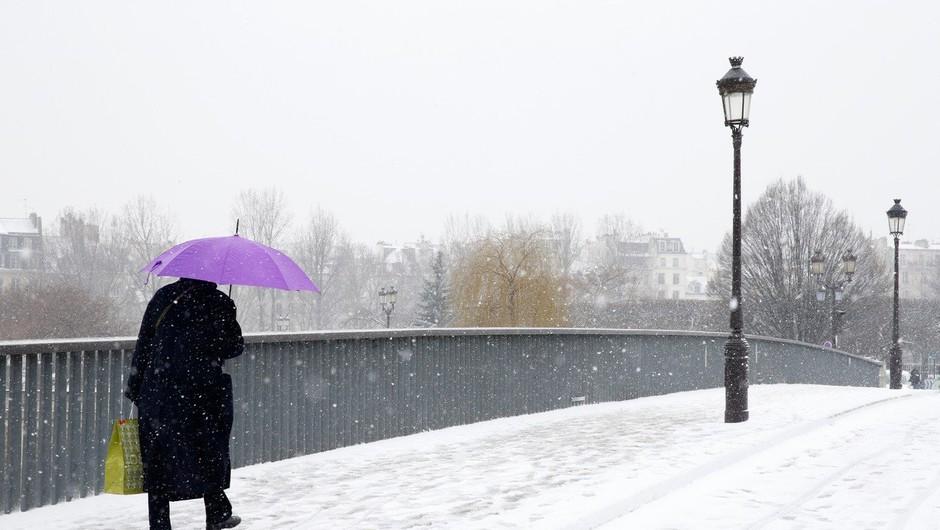 Snežni vihar povzroča preglavice v Franciji, moten tudi promet na letališču Orly (foto: Profimedia)