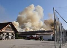 Škoda v požaru na obratu kmetijske šole pri Novem mestu naj bi dosegla milijon evrov