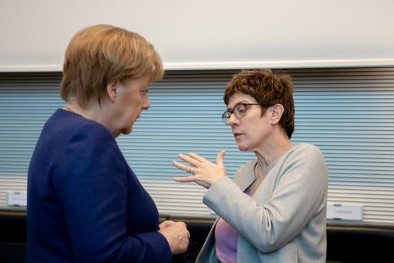 Besede Annegret Kramp-Karrenbauer, ki je na čelu CDU zamenjala Angelo Merkel, deležne očitkov