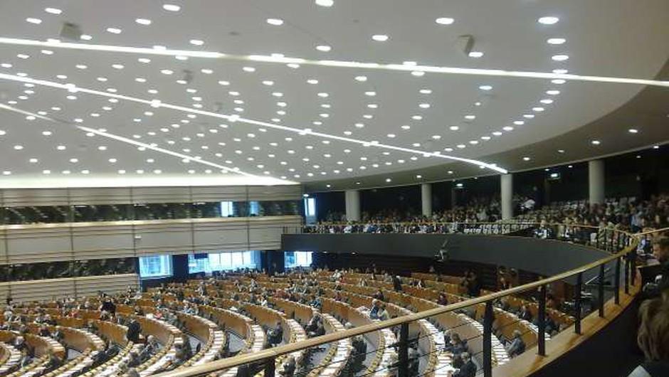 V Evropskem parlamentu v vsakem mandatu večji delež žensk (foto: STA)