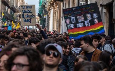 50.000 Italijanov v protest s transparenti proti mafiji