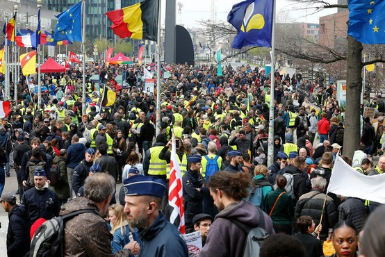 V Belgiji je 15.000 protestnikov zahtevalo odločnejše podnebne ukrepe