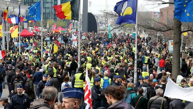 V Belgiji je 15.000 protestnikov zahtevalo odločnejše podnebne ukrepe (foto: profimedia)