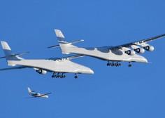 Največje letalo na svetu z razponom kril 117 metrov je prestalo prvi test