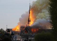 V Parizu izbruhnil požar v  katedrali Notre Dame - zrušil se je 93 metrov visok stolpič