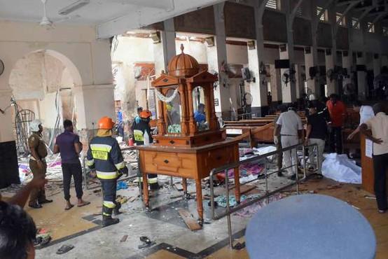 Po terorističnih napadih so v Šrilanki zaprli vse katoliške cerkve