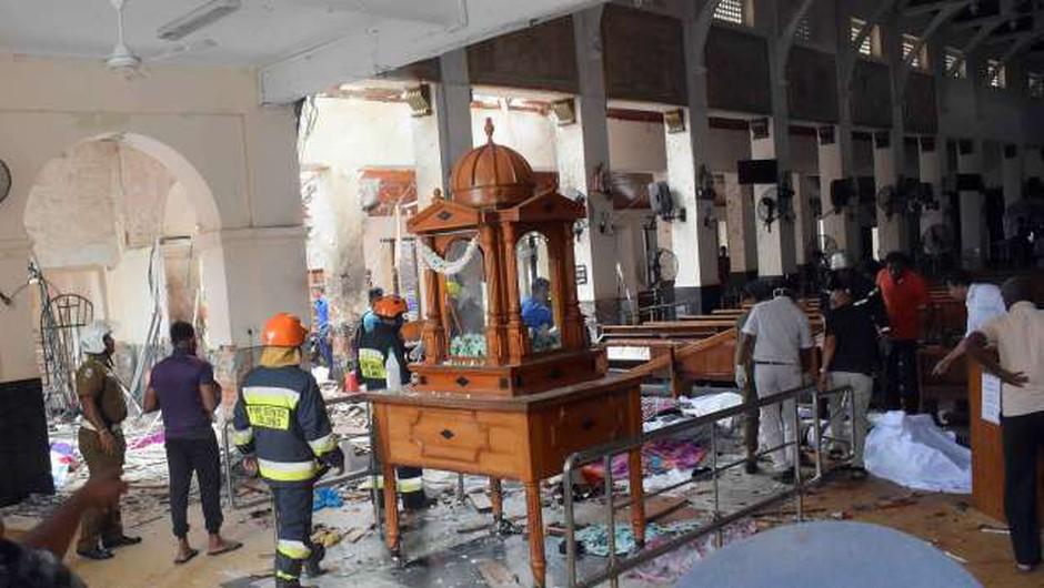 Po terorističnih napadih so v Šrilanki zaprli vse katoliške cerkve (foto: Xinhua/STA)