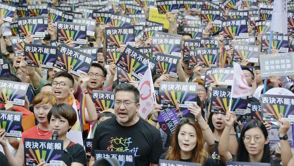 Tajvan postal prva azijska država s pravico homoseksualcev do poroke (foto: profimedia)