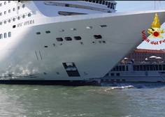 Nesreča v Benetkah: Ladja za križarjenje trčila v turistično ladjo in pomol