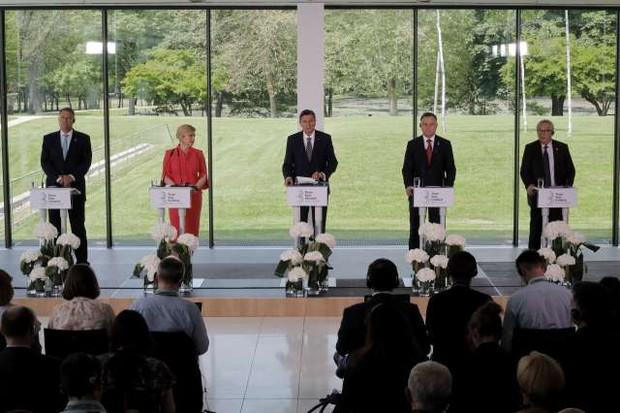 Predsedniki pobude Tri morja podprli deklaracijo o milijardah za razvoj regije! (foto: Tamino Petelinšek/STA)
