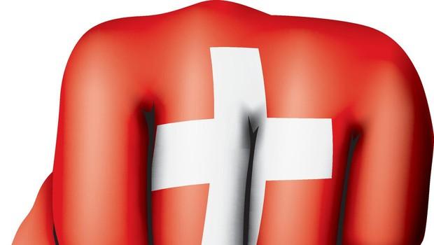 Švicarske v vijoličnem so se usule na ulico in protestirajo proti plačni neenakosti (foto: profimedia)