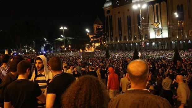 Na protestih v Gruziji več kot 200 ranjenih (foto: profimedia)