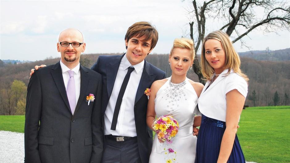 TAKO sta svojo poroko leta 2010 obeležila Raay in Marjetka - danes poznana kot duo Maraaya. Poročila sta se v aprilu, in sicer na prelepem posestvu Pule. (foto: Osebni arhiv)