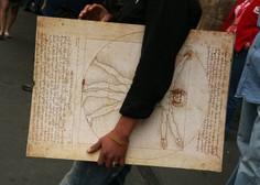 Italija bo Franciji posodila znamenito Leonardovo risbo Vitruvijca