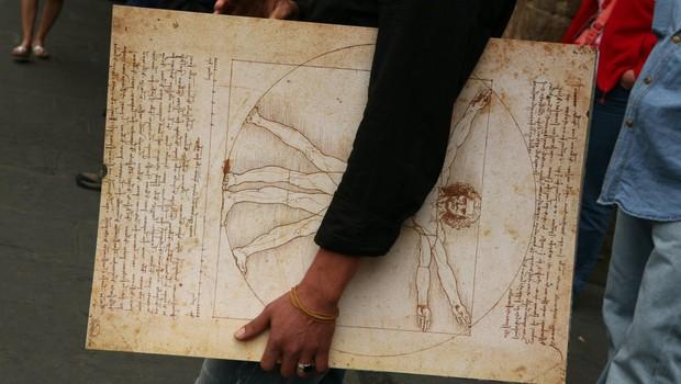 Italija bo Franciji posodila znamenito Leonardovo risbo Vitruvijca (foto: profimedia)