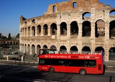 Rim težave s smetmi rešuje tudi s pomočjo javnega prevoza