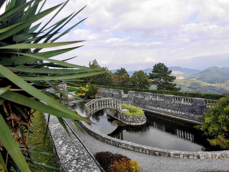 Ferrarijev vrt, ki ga je zasnoval veliki arhitekt (in nekdanji župan Štanjela) Maks Fabiani