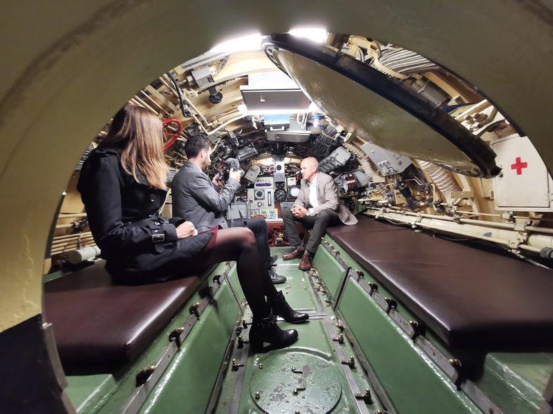 Park vojaške zgodovine Pivka, v podmornici