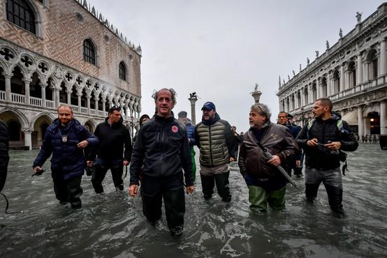 Razmere v Benetkah še vedno negotove, Markov trg zaprt