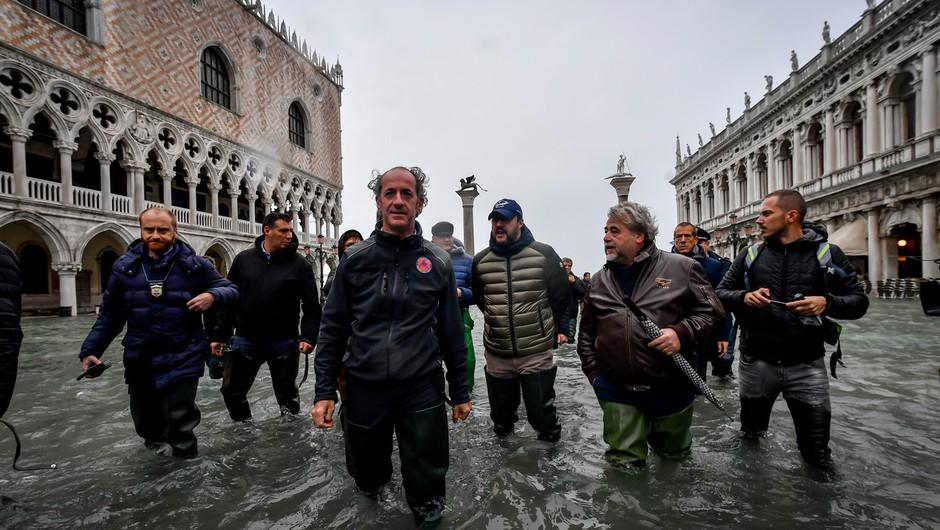 Razmere v Benetkah še vedno negotove, Markov trg zaprt (foto: profimedia)