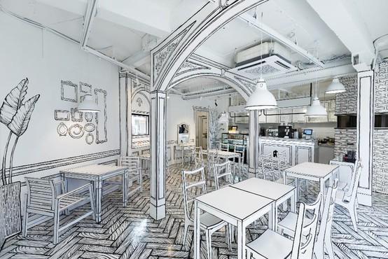 Kaj menite: je na fotografiji resnična kavarna ali risanka?