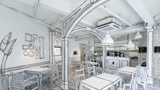 Kaj menite: je na fotografiji resnična kavarna ali risanka? (foto: Greem Café)