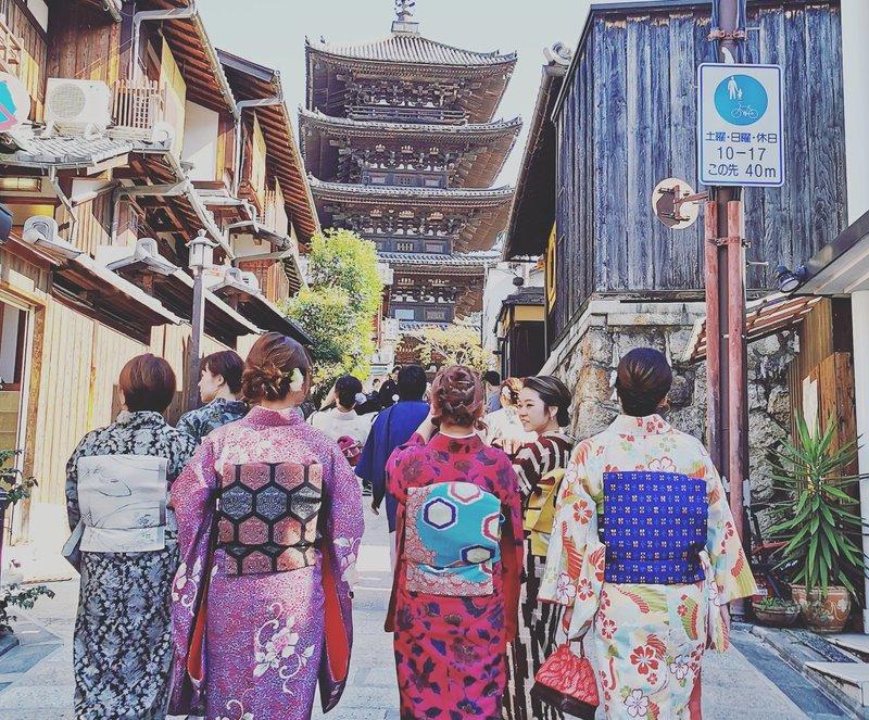 Kjoto: v okrožju Higashiyama pri templju Hokanji najdete tudi tradicionalno Yasaka Pagodo.