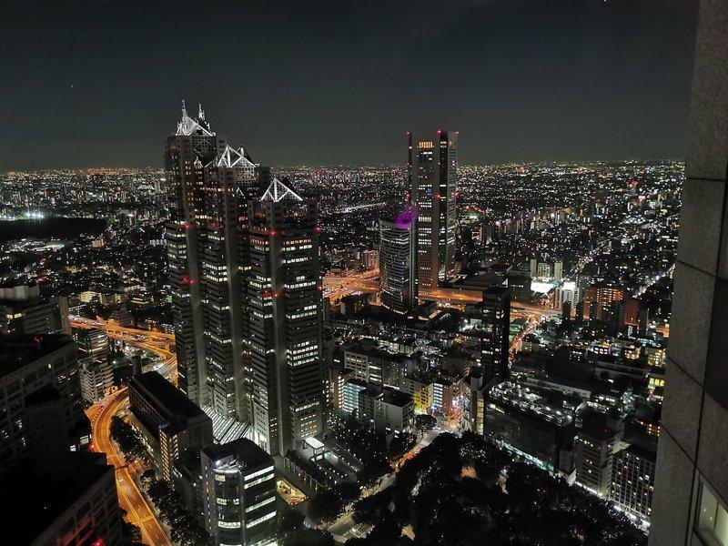 Razgled na Tokio iz Metropolitan Government Building, Shunjuku