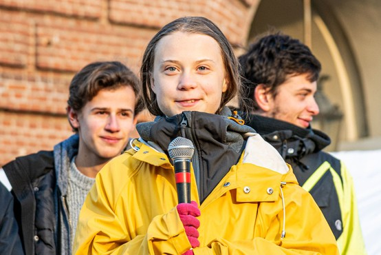 Greta Thunberg se z vlakom vrača domov