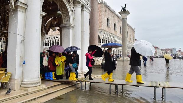 Benetke spet pod vodo: poplavilo 60 odstotkov središča mesta (foto: profimedia)