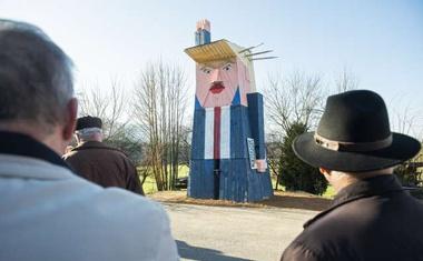 Trumpov kip odslej v Moravčah, kjer je bil že tarča vandalov