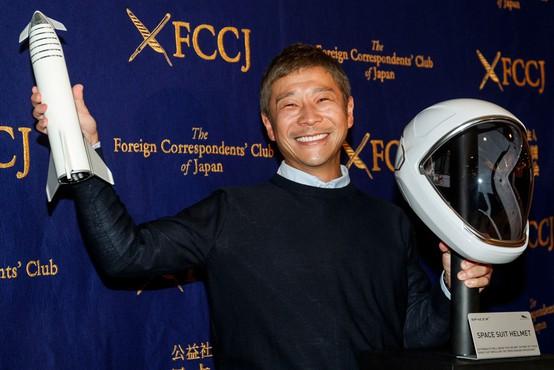 Japonski milijarder Yusaku Maezawa išče sopotnico za potovanje v vesolje