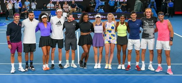 Zvezdniki tenisa na dobrodelnem dogodku za Avstralijo zbrali tri milijone evrov (foto: profimedia)