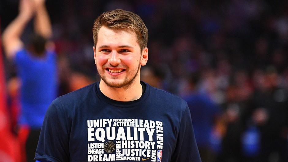 Luka Dončić kot prvi Slovenec v prvi peterki na tekmo zvezd (foto: profimedia)