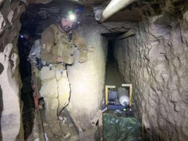 V ZDA na meji z Mehiko odkrili najdaljši tihotapski predor (foto: Twitter/STA)