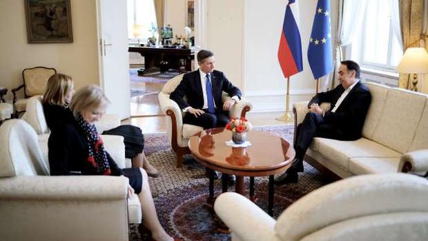 Pahor začel posvetovanja s poslanskimi skupinami (foto: Daniel Novakovič/STA)