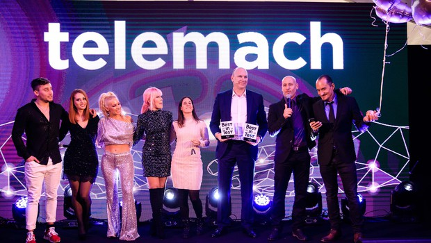 Telemach certifikat za najboljše mobilno omrežje po uporabniški izkušnji proslavil v družbi glasbenih zvezd (foto: Telemach)